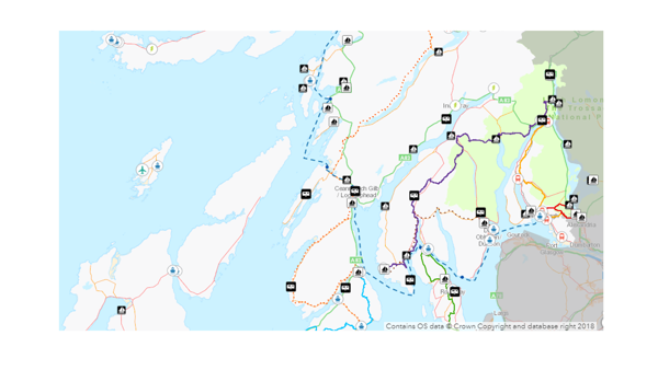 Tourism infrastructure web map